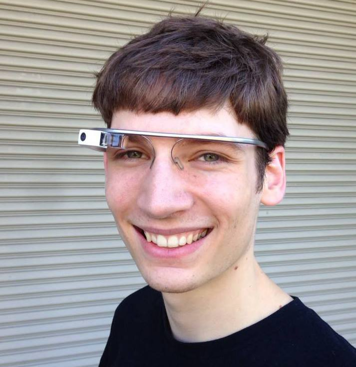 Stephen Balaban wearing Google Glass in 2013