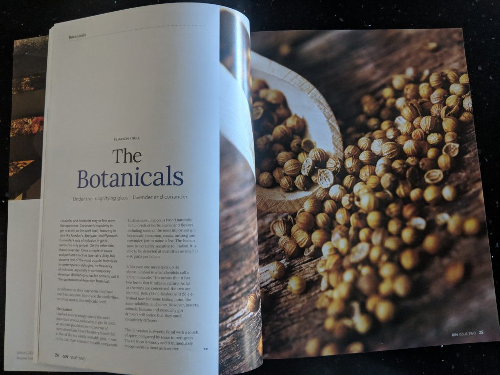 Writing Portfolio— Coriander and Lavender, Gin Magazine 2